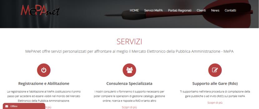 nuovo sito web di MePAnet